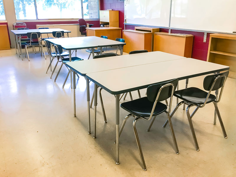 New Tables And Chairs At Black Hawk Middle School Are Easy To Move And  Offer Large Workspaces. Photo By Katie Wing