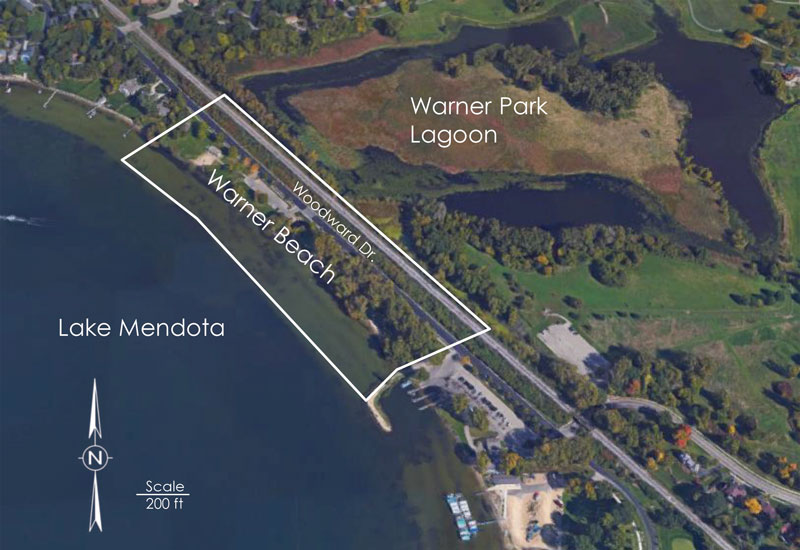 Site Map Of Warner Beach Provided By Clean Lakes Alliance