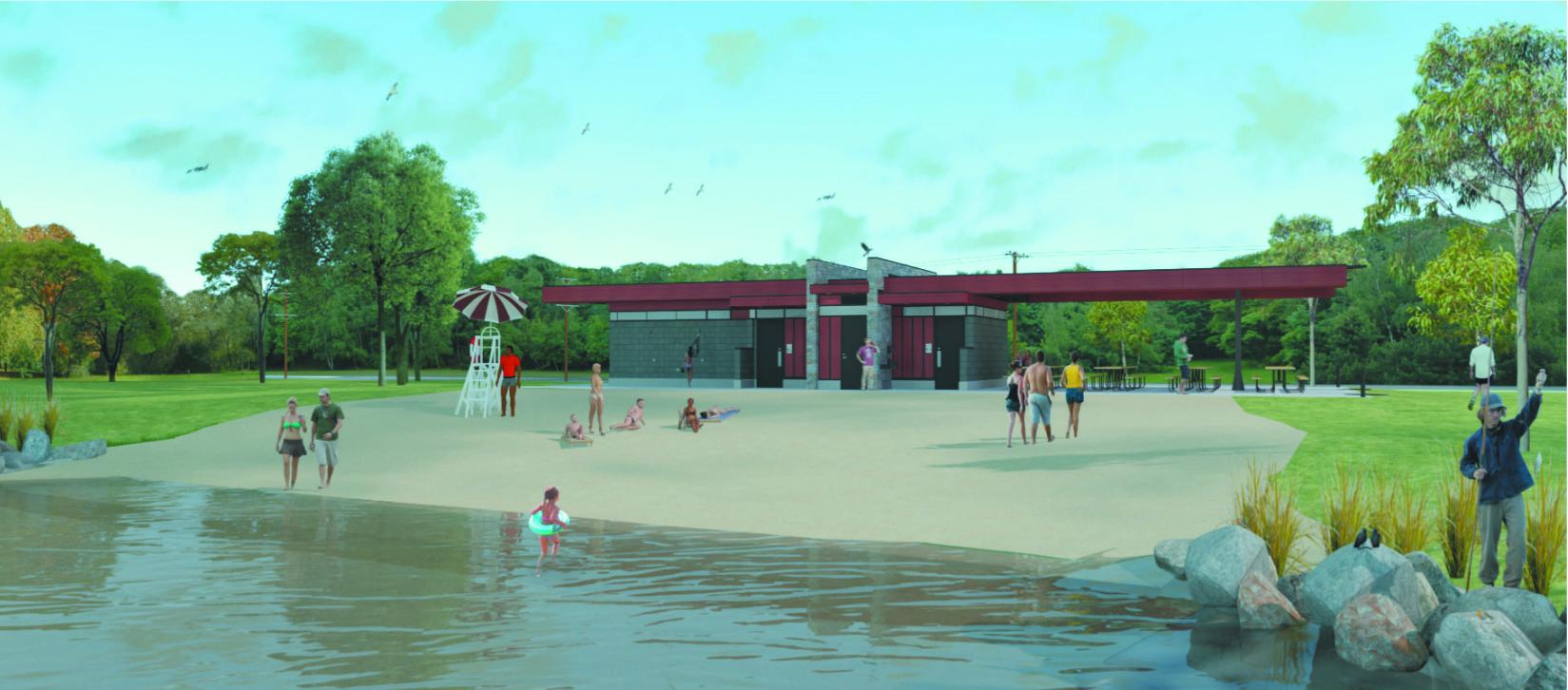 Warner Beach bathhouse construction moving forward | Northside News